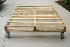 DIY bed and casters...  Outdoor Daybed