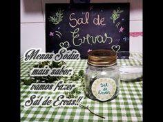 Menos Sódio,mais sabor,vamos fazer Sal de Ervas!!