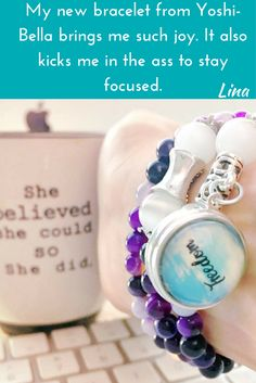 Keep your goals in sight with Custom Jewelry from Yoshi-Bella