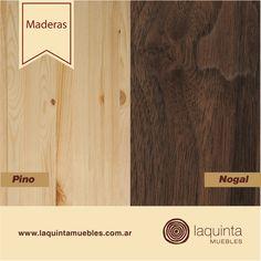 ¿Sabías que hay dos tipos de maderas? Las maderas blandas, como la madera de pino, álamo, o sauce, son fáciles de trabajar y de colores generalmente muy claros. Las maderas duras, son las de los árboles de lento crecimiento, como el nogal, roble, y otros. Suelen ser maderas aceitosas y se usan en muebles, en construcciones resistentes o en suelos de parquet.