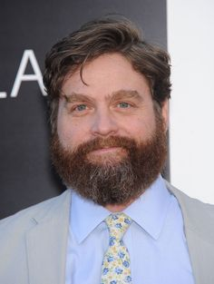 Zach Galifianakis - Round Face - Side Part Hairstyle