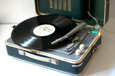 Turntable Record player portable  Working  Blue by SovietMilitary