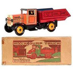 1934 Marx City Coal Co. Dump Truck in Original Box