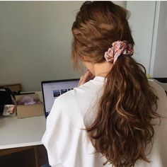 hair scrunchie quotes hairstyles simple easy hairstyles buns hairstyles cute hairstyles with bangs hair vector hairstyles with extensions hairstyles on short hair hairstyles one side shaved Hairstyles With Bangs, Pretty Hairstyles, Braided Hairstyles, Hairstyles 2018, Formal Hairstyles, Black Hairstyles, Girl Hairstyles, Ribbon Hairstyle, Curly Hair Styles