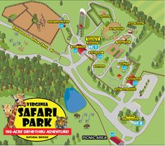 Virginia Safari Park Map