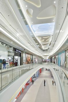 Rzeszów City Center, Shopping Mall, Circulation Area, Interior, Ceiling Design, Rzeszów-Poland