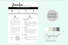 Resume Template  Cover Letter Word By Graphicsauthor  Resume Cv