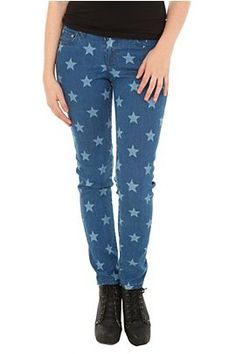 Judy Blue Star Print Skinny Jeans at Hot Topic
