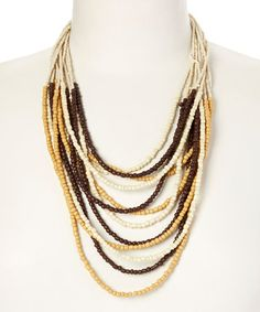 Look what I found on #zulily! Beige Gradient Bead Necklace by Christian Livingston #zulilyfinds