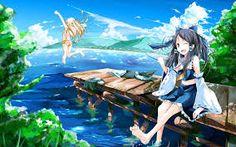 anime summer wallpaper - Tìm với Google