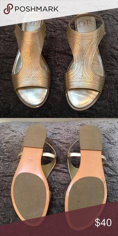 Diane vonFurstenberg gladiator sandals gold Gorgeous gold gladiator sandals. Very comfortable Diane von Furstenberg Shoes Sandals