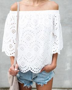 Mansion Crochet Top - Off White