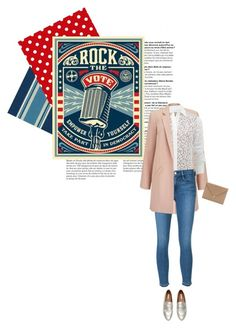 """Rock the Vote in Style"" by takemetotheburrow ❤ liked on Polyvore featuring Miss Selfridge, Michael Kors, Frame Denim, Alexander Wang and rockthevote"