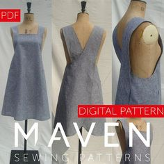 The Maria Wrap Apron is a PDF sewing pattern by Maven Patterns. This pattern is only available to print at home by instant download, immediately after completing checkout. SKILL LEVEL: ADVANCED BEGINNER/INTERMEDIATE A practical and useful artists apron inspired by the traditional