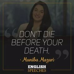 Watch this famous Muniba Mazari Speech. Enjoy our Speeches with big English subtitles and keep your English learning journey. Death Quotes, True Quotes, Status Quotes, Attitude Quotes, Motivational Blogs, Inspirational Quotes, Trauma, Mental Strength Quotes, Dear Self Quotes
