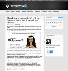 Girl Power au Lutetia in FrenchWeb Marketing, Girl Power, Thanks, Beginning Sounds, Women