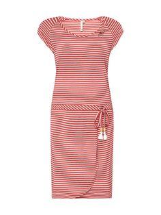 Bei ➧ P C Freizeitkleider von RAGWEAR ✓ Jetzt RAGWEAR Kleid mit  Streifenmuster in Rot online kaufen ✓ 9780281 ac85c8eb8d