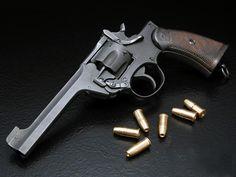 The Webley Revolver. Webley Revolver, Revolver Pistol, Revolvers, Shooting Guns, Shooting Range, Bushcraft, High Quality Wallpapers, Cool Guns, Military Weapons