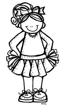 cheerleader black and white Coloring Pages For Girls, Cool Coloring Pages, Coloring Sheets, Clipart Black And White, Black And White Drawing, Sports Theme Classroom, Pattern Coloring Pages, Vinyl Paper, Vinyl Crafts