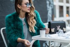 Feather Coat Winter Outfits // NotJessFashion.com