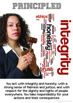 Learner Profile Poster: Principled. A freebie from Amy Keus at IBO Musical Voyage: http://bit.ly/1oTswfL