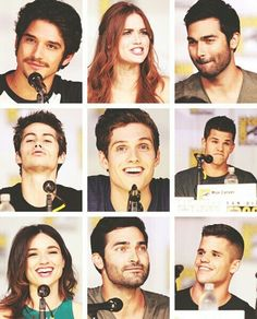 The cast of teen wolf! Gaahhhhh I love that show to much for my own good! Teen Wolf Mtv, Teen Wolf Dylan, Teen Wolf Cast, Dylan O'brien, Cristal Reed, Max Carver, Werewolf Hunter, Charlie Carver, Daniel Sharman