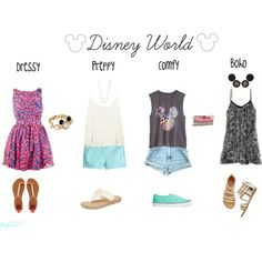 """""""Disney World Attire"""" by kay0223 on Polyvore  What you could wear at Disney World and not be too hot in the Florida sun!"""