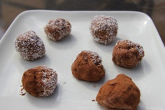 Chocolate truffles using coconut oil.