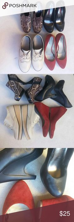 Selling this 4 pair of shoes size 6 on Poshmark! My username is: zoe455. #shopmycloset #poshmark #fashion #shopping #style #forsale #Express Unlisted  Dollhouse  #Shoes