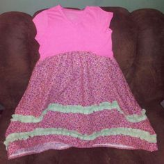 Spring dress from tshirt