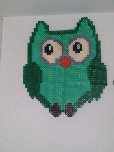 Owl  hama perler beads by Camilla Larsen