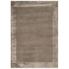 Debenhams Taupe wool 'Ascot' rug- at Debenhams.com