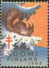 Joulumerkki, Suomi 1962 / Christmas Seal, Finland 1962