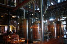 Southend Brewery and Smokehouse at 161 East Bay Street is housed in an 1880s brick building that has a contemporary, elegantly casual interior. ---> The seating is both dining room (family friendly) and bar style.