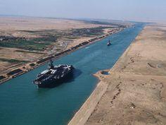 Il Canale di Suez, è un canale artificiale navigabile situato in