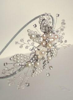 Pearl & crystal headband #wedding #accessory
