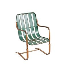 Green Steel Patio Lounge Chair - Antiques & Vintage - Decor for the Home Metal Outdoor Chairs, Metal Lawn Chairs, Outdoor Doors, Outdoor Lounge, Patio Daybed, Patio Lounge Chairs, Frame Wall Decor, Unique Wall Decor, Reupholster Furniture