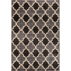 "Threadbind Hamilton Silver/Black Area Rug Rug Size: 7'10"" x 9'10"""