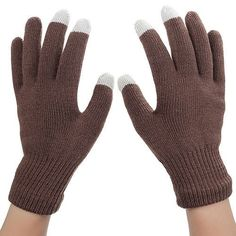 FDNWB - Women/Men Unisex Fashion Winter Warm Gloves Knitted Gloves Touchable Screen for Iphone Smartphone Glove 10 color options