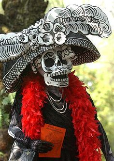 La Catrina - Day of the Dead mask made from  Jose Guadalupe Posada image