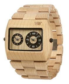 WeWood Jupiter is a unique wrist watch made entirely of wood, natural without any toxic or artificial materials. Think green, get a wooden watch! Cool Watches, Watches For Men, Unique Watches, 5th Anniversary Gift Ideas, Wooden Watch, Beige, American, Gold Watch, Bracelets