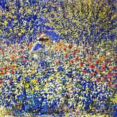 """""""Apesar das ruínas e da morte, Onde sempre acabou cada ilusão, A força dos meus sonhos é tão forte, Que de tudo renasce a exaltação E nunca as minhas mãos ficam vazias.""""  # Sophia de Mello Breyner Andresen # Flower Garden - 1913 - Louis Ritman"""