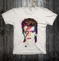 Musique Tee David Bowie Cat Ziggy Stardust T-Shirt Femme Homme Toutes Tailles
