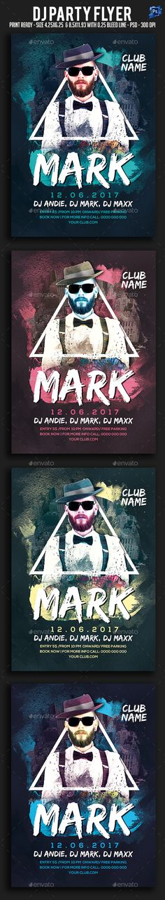 Dj #Party #Flyer - Clubs & Parties #Events Download here: https://graphicriver.net/item/dj-party-flyer/20332851?ref=alena994