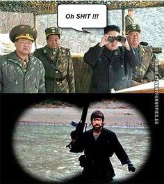 Kim Jong Un meets Chuck Norris #Humor