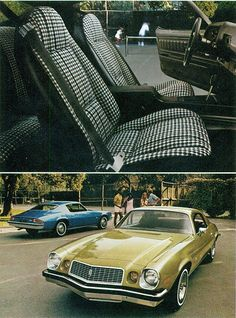 1974 Chevrolet Camaro Sport Coupe- OMG! this looks exactly like my first car, even the gold color.  wow, talk about flashback.