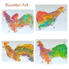 art for kids rooster
