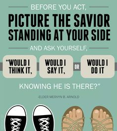 Picture the savior standing at your side