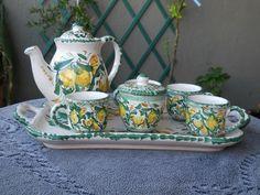 Servizio da caffe in ceramica di Le ceramiche di Ketty Messina su DaWanda.com