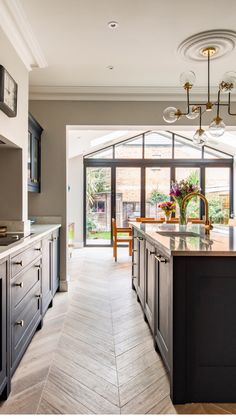 Look Inside This Family Kitchen Extension In Surrey Open Plan Kitchen Diner, Modern Kitchen Open Plan, Contemporary Kitchen Design, Home Kitchens, Open Plan Kitchen Living Room, Home Remodeling, Home, Contemporary Open Plan Kitchens, Kitchen Extension